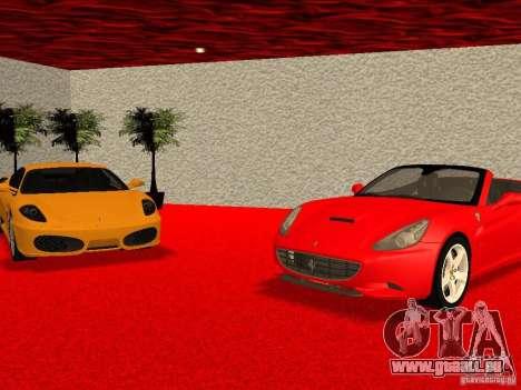 Nouveau Showroom de Ferrari à San Fierro pour GTA San Andreas neuvième écran