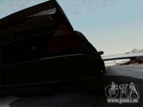Mitsubishi Lancer Evolution VI pour GTA San Andreas vue de dessus
