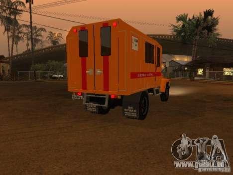 GAZ 3309; für GTA San Andreas zurück linke Ansicht