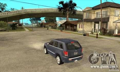 Jeep Grand Cherokee SRT8 v2.0 pour GTA San Andreas sur la vue arrière gauche