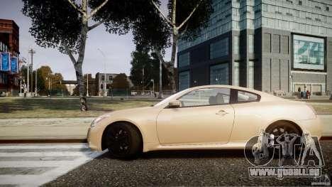 Infiniti G37 Coupe Sport für GTA 4 hinten links Ansicht