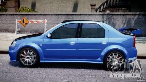 Dacia Logan 2008 [Tuned] pour GTA 4 Vue arrière de la gauche