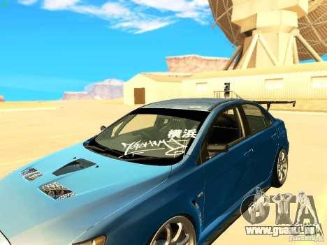 Mitsubishi Lancer Evolution X Time Attack pour GTA San Andreas vue arrière
