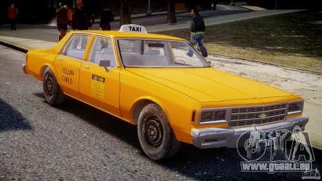 Chevrolet Impala Taxi v2.0 pour GTA 4 est une vue de l'intérieur