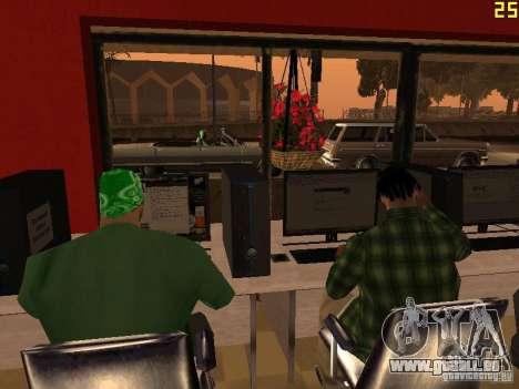 Ganton Cyber Cafe Mod v1.0 pour GTA San Andreas quatrième écran