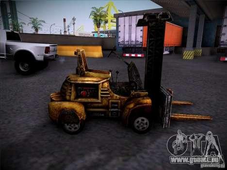 Chariot élévateur du TimeShift pour GTA San Andreas laissé vue