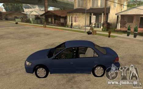 Honda Accord 2001 beta1 pour GTA San Andreas laissé vue