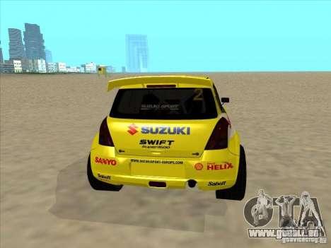 Suzuki Rally Car pour GTA San Andreas sur la vue arrière gauche