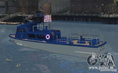 Coast Guard Patrol für GTA 4 hinten links Ansicht