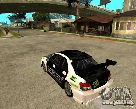 Subaru Impreza Elemental Attack pour GTA San Andreas laissé vue