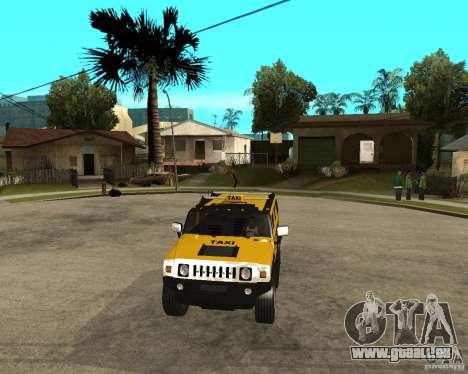 AMG H2 HUMMER TAXI pour GTA San Andreas vue arrière