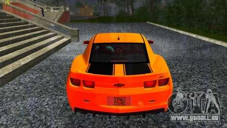 Chevrolet Camaro SS 2010 pour GTA Vice City sur la vue arrière gauche