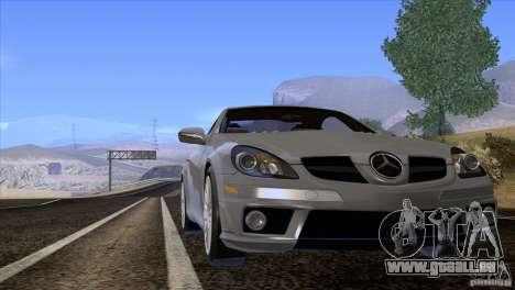 Mercedes-Benz SLK 55 AMG pour GTA San Andreas vue intérieure