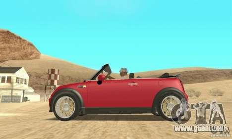 Mini Cooper Convertible pour GTA San Andreas vue de droite