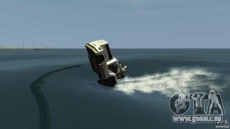 Airtug boat für GTA 4 Rückansicht