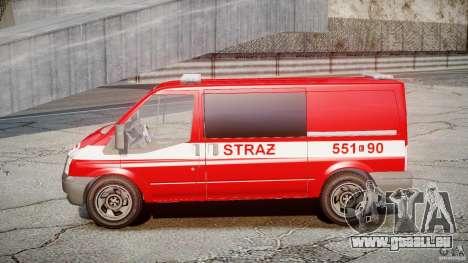 Ford Transit Polish Firetruck [ELS] pour GTA 4 Vue arrière