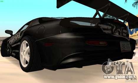 Mazda RX7 Tuned pour GTA San Andreas vue de droite