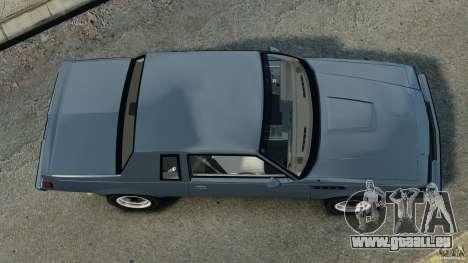 Buick GNX 1987 für GTA 4 rechte Ansicht