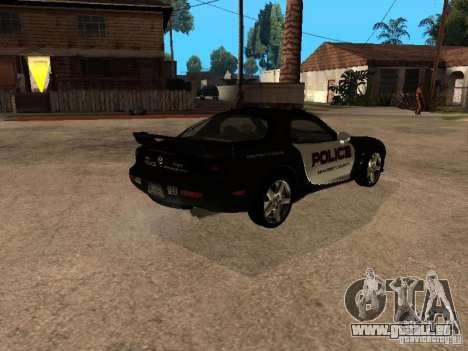 Mazda RX-7 Police für GTA San Andreas zurück linke Ansicht
