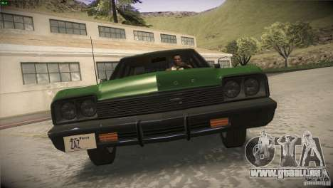 Dodge Monaco pour GTA San Andreas vue de dessus