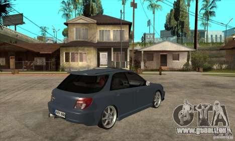Subaru Impreza Universal pour GTA San Andreas vue intérieure