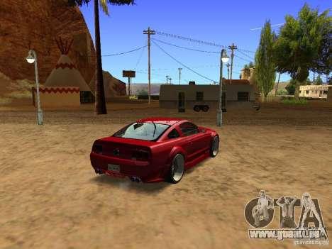 Ford Mustang GT 2005 Tuned für GTA San Andreas zurück linke Ansicht