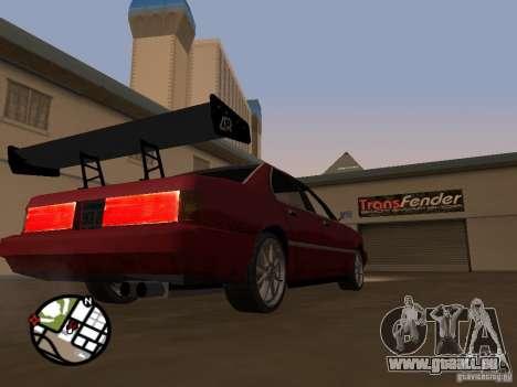 Nouvelles pièces pour le tuning pour GTA San Andreas sixième écran
