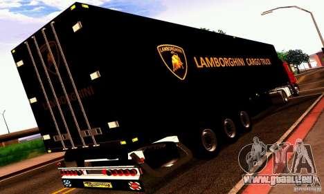 Lamborghini Cargo Truck pour GTA San Andreas vue de droite