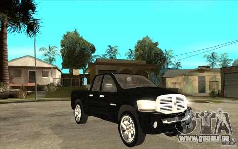 Dodge Ram 2500 2008 für GTA San Andreas Rückansicht