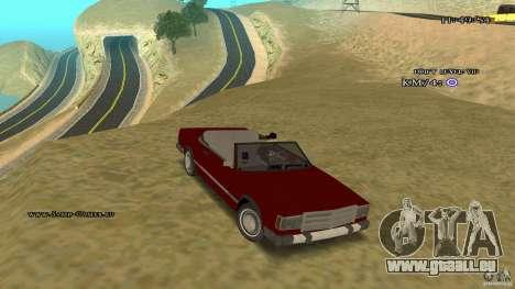 Feltzer HD pour GTA San Andreas vue arrière