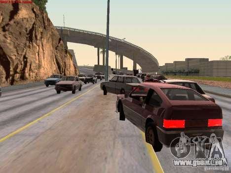 Realistic traffic stream pour GTA San Andreas deuxième écran