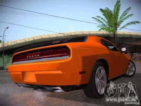 Dodge Challenger SRT8 v1.0 für GTA San Andreas Rückansicht