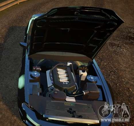 Ford Mustang GT Convertible 2013 pour GTA 4 est une vue de l'intérieur