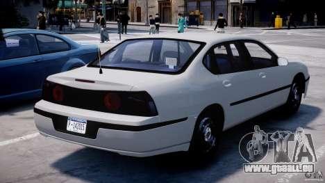 Chevrolet Impala Unmarked Police 2003 v1.0 [ELS] pour GTA 4 Vue arrière de la gauche