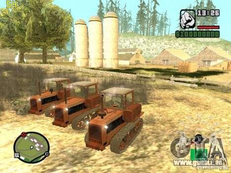 Tracteur DT-75 Postman pour GTA San Andreas sur la vue arrière gauche