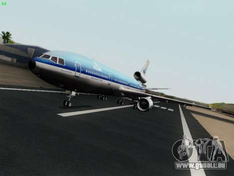 McDonell Douglas DC-10-30 KLM Royal Dutch pour GTA San Andreas