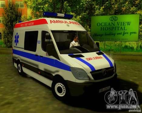 Mercedes-Benz Sprinter Baku Ambulans für GTA San Andreas