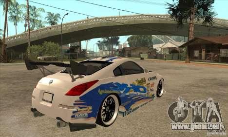 Nissan Z350 - Tuning pour GTA San Andreas vue de droite