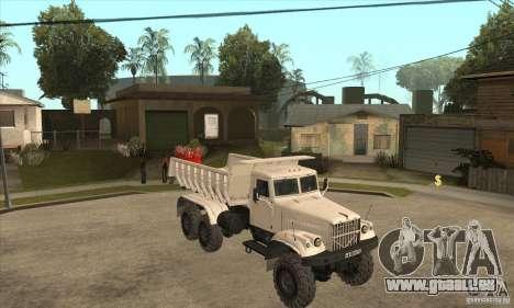 Camion à benne basculante KRAZ 225 pour GTA San Andreas vue de côté