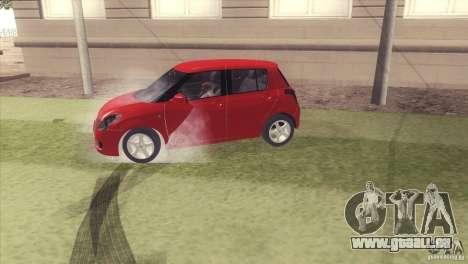 Suzuki Swift versión Chilena pour GTA San Andreas vue de droite