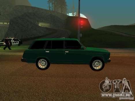 VAZ 21047 für GTA San Andreas zurück linke Ansicht
