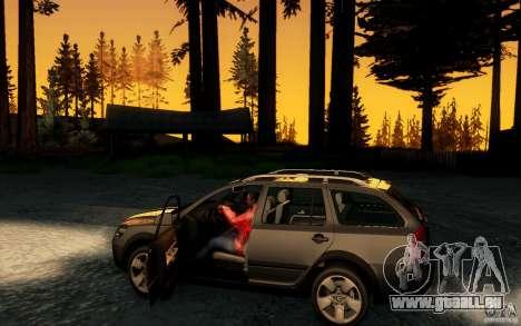 Skoda Octavia Scout pour GTA San Andreas vue intérieure