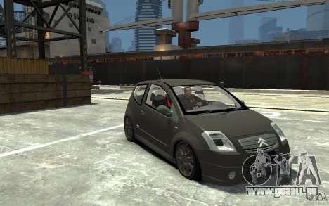 Citroen C2 für GTA 4 Rückansicht