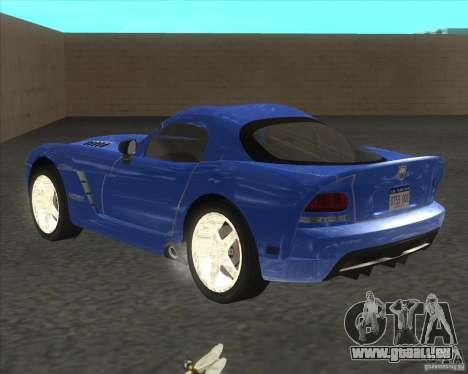 Dodge Viper pour GTA San Andreas laissé vue