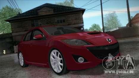 Mazda Mazdaspeed3 2010 für GTA San Andreas Rückansicht
