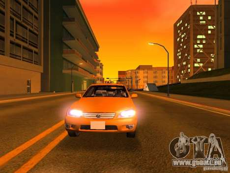 Lexus IS300 Taxi pour GTA San Andreas salon