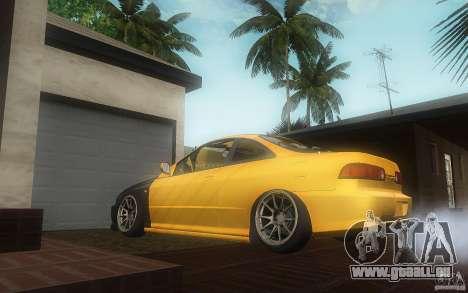 Honda Integra JDM pour GTA San Andreas sur la vue arrière gauche