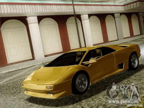 Lamborghini Diablo VT 1995 V3.0 für GTA San Andreas Innenansicht