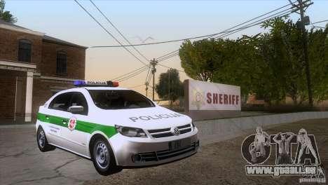 Volkswagen Voyage Policija pour GTA San Andreas vue arrière