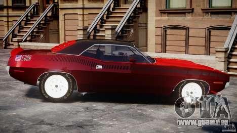Plymouth Cuda AAR 340 1970 pour GTA 4 est une gauche